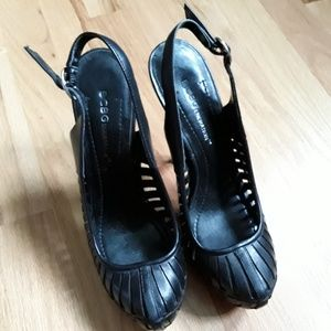 BCBG black high heels